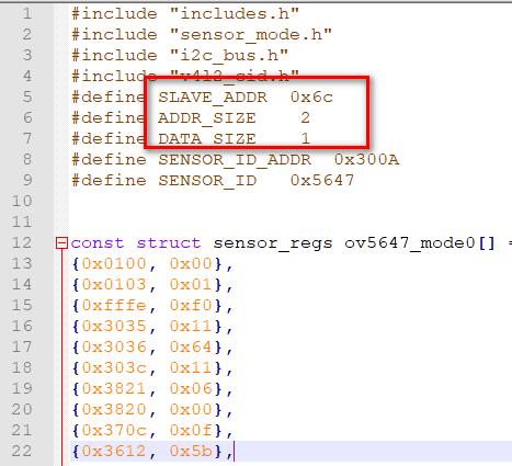 I2C MODE I2C ADDR5