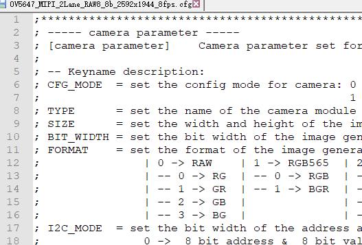 USB2.0 Camera Shield Rev.E config file 2.1