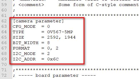 Display Mode and Camera Address Configuration0