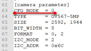 Display Mode and Camera Address Configuration1