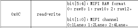 Set MIPI Lane channel and RAW format1
