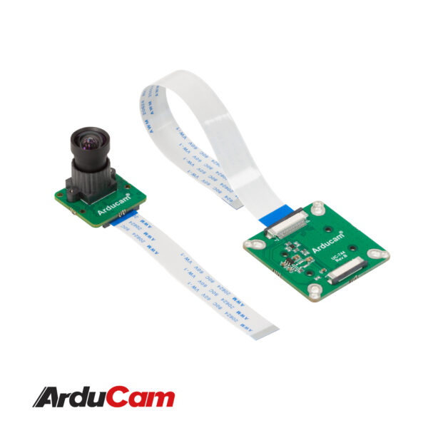 Arducam 12MP IMX477 MINI High Quality Camera with M12 mount lens and adapter board for DepthAI B0300 1