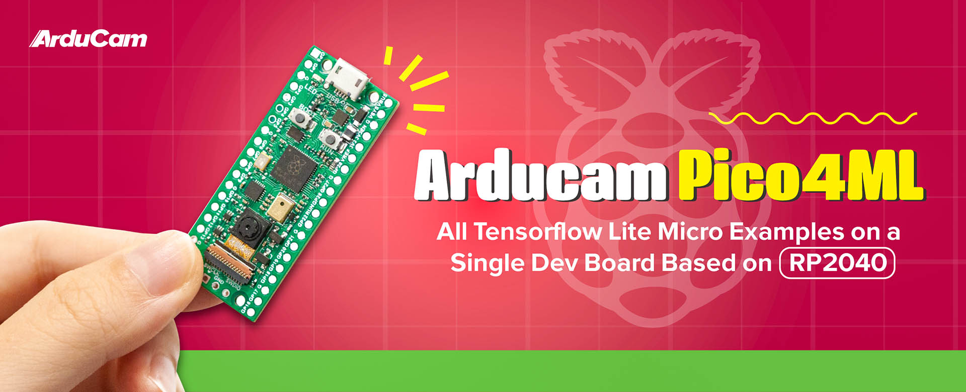 arducam pico 4 ml machine learning dev kit for tinyml