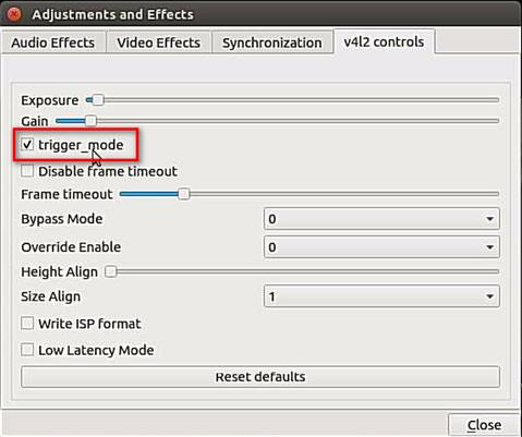 external trigger mode3 pi