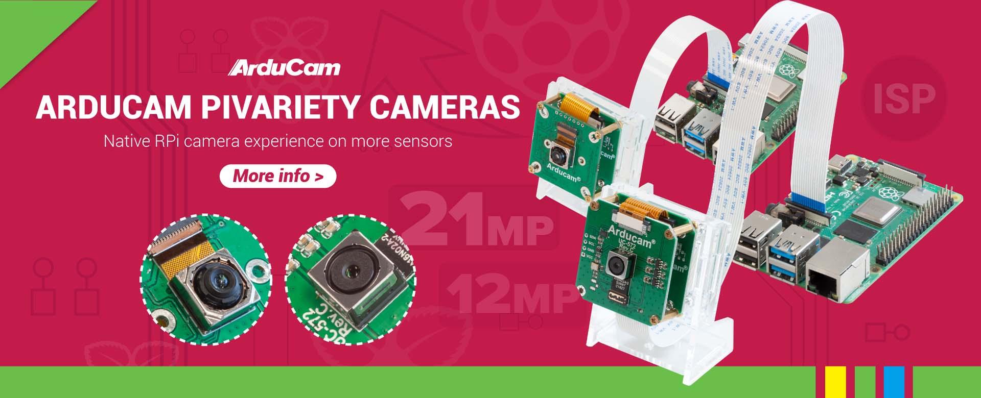 Arducam Pivariety Cameras for Raspberry Pi