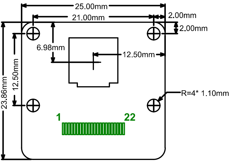 UC 760 camera board sizing