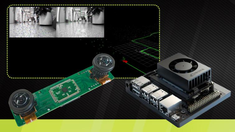 an Nvidia Jetson NX V SLAM System with Arducam Stereo Camera