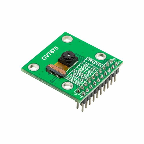 640x480 0.3 mp mega pixel lens ov7675 cmos camera module with adapter board side view 1
