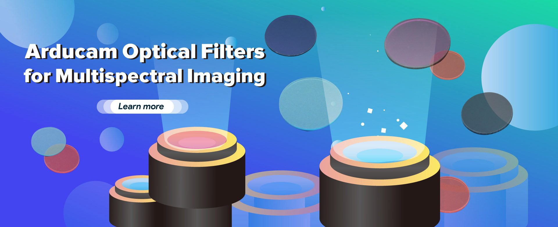 arducam optical filters for multispectral imaging