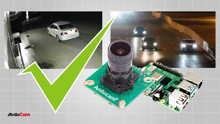 using Arducam Pivariety low light camera for surveillance applications