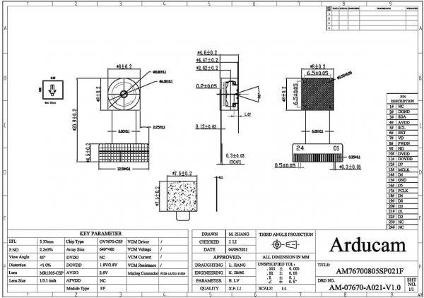 arducam ov7670 ccm arduino dvp m0030 5