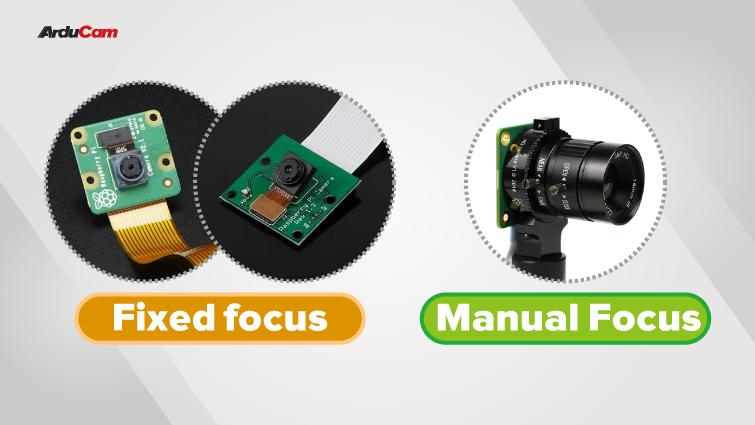 focus types of the three raspberry pi cameras