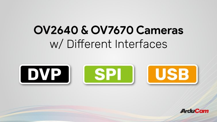 get ov2640 or ov7670 cameras with various interfaces
