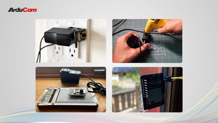 hidden security camera project with ov2640