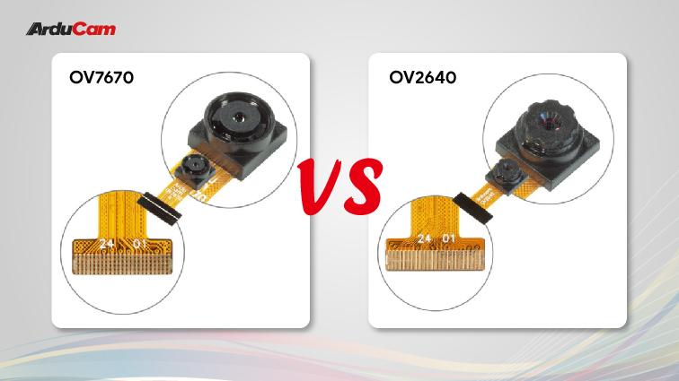 ov2640 vs ov7670 pin definitions comparison
