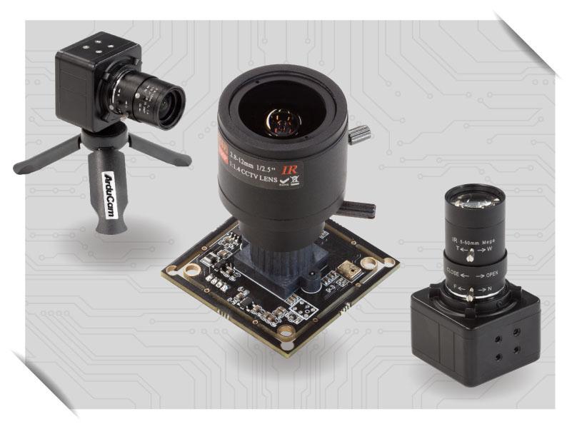 usb board cameras with varifocal lenses