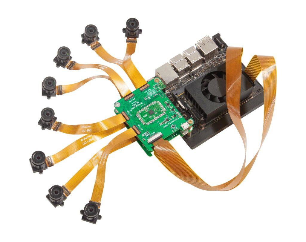 octopus 8 camera system for Nvidia Jetson Nano and nx